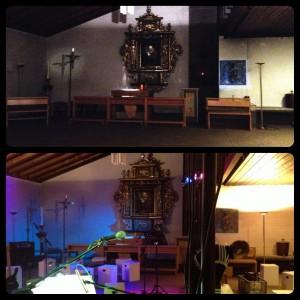 Kapelle vorher- nachher
